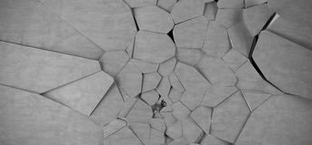 Abstract Shattered Background. 3D Rendering Of Abstract Shattered Background Royalty Free Stock Images