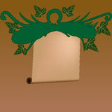Abstract sheaf sign. Abstract sheaf vector sign; Vintage with leafs Royalty Free Stock Images