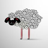 Abstract sheep. Element for New Years design. Symbol of 2015 year of the sheep Royalty Free Stock Photos