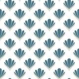 Abstract shell naadloos patroon Royalty-vrije Stock Fotografie