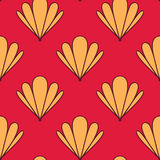 Abstract Shell Seamless Pattern Stock Photos