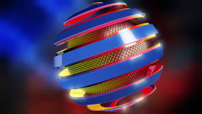 Abstract shere. stock footage
