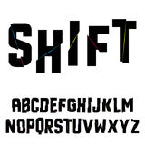 Abstract shift alphabet Royalty Free Stock Image