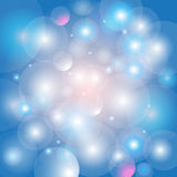 Abstract shimmering background bokeh. Festive beautiful blue glowing background bokeh Royalty Free Stock Photography
