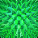 Abstract shimmering green crystals. Abstract 3D green shimmering sharp crystals Stock Photo