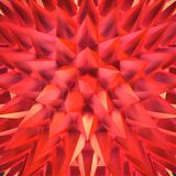 Abstract shimmering red crystals. Abstract 3D red shimmering sharp crystals stock illustration