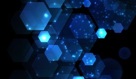 Abstract shine geometric background Royalty Free Stock Image