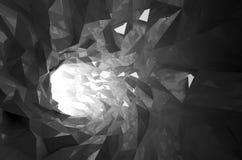 Abstract shining black crystal digital tunnel 3d Stock Photos