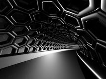 Abstract shining black hole tunnel background Stock Photo
