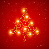 Abstract shining Christmas tree Royalty Free Stock Photography