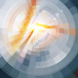 Abstract shining circle tonnel background Stock Image
