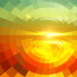 Abstract shining circle tunnel background stock illustration