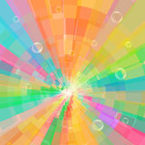 Abstract shining circle tunnel. Abstract multicolor circle tunnel background. vector illustration Stock Photos