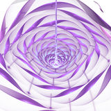 Abstract shining 3d flower on white background. Fantasy fractal design in faded blue, pink and violet colors Stock Image