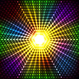 Abstract shining disco background Stock Photography