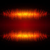 Abstract shining equalizer waveform Stock Photos
