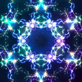 Abstract shining fractal vector electric Royalty Free Stock Photo