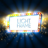 Abstract Shining Frame. Retro Light Banner. Vector Stock Image