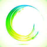 Abstract shining greencircle modern frame Royalty Free Stock Image