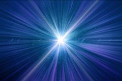 Abstract Shining Light Time Wormhole Background royalty free illustration