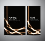 Abstract shining line. Graphic resources for business design template. Stock Images