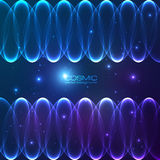 Abstract shining lines vector cosmic background Stock Images