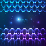 Abstract shining lines vector cosmic background Royalty Free Stock Photos