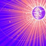 Abstract shining mirror ball Stock Image