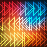 Abstract shining neon triangles Stock Photos