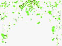 Abstract Shining Party Background with confetti and streamers. Eps.10 vector illustration