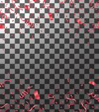 Abstract Shining Party Background with confetti and streamers. Eps.10 stock illustration