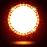 Abstract shining retro light banner Stock Images