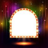Abstract shining retro light banner Royalty Free Stock Image