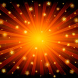 Abstract shining stars red background Stock Photography