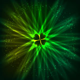Abstract shining vector clover background Stock Photos