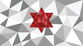Abstract shining vector geometric web background, red shape in front,  shades of gray  triangle,  color diamond,  wallpaper design. 3d abstract shining ice Royalty Free Stock Photo