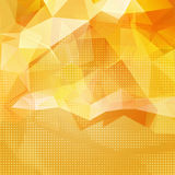 Abstract shining yellow invitation template Royalty Free Stock Images