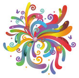 Abstract shinning flower. Created by Adove Illustrator cs stock illustration
