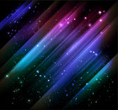 Abstract shiny background. Vector background with shiny lights and starry sky Royalty Free Stock Photos