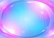 Abstract shiny background. Abstract blue and pink background with light spots, made with  shapes Royalty Free Stock Photo