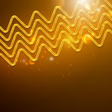 Abstract shiny background with golden zigzags Royalty Free Stock Image