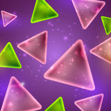 Abstract shiny background with triangle shapes. And sparkles Stock Image