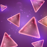 Abstract shiny background with triangle shapes. And triangles Royalty Free Stock Photos