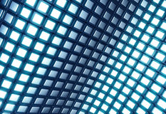 Abstract shiny blue square pattern. 3d illustration Stock Image