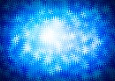 Abstract shiny blue white color bokeh wallpaper Stock Photos