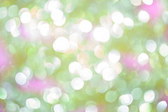 Abstract shiny blur background. Vector abstract background with shiny blurred green, white, pink colored lights in horizontal format Royalty Free Stock Photography