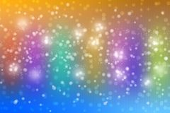 Abstract Shiny Bubbles and Bokeh in Colorful Background vector illustration