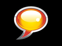 Abstract shiny chat icon Royalty Free Stock Images