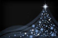 Abstract shiny christmas tree on dark background Royalty Free Stock Photos