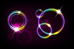 Abstract shiny circle background. Vector file added Stock Photography
